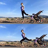 Stroller express lunge