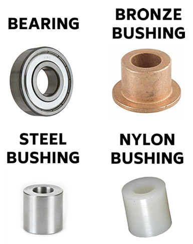 Pilates Hardware Bushings and Bearings