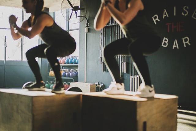 Pilates and Box Hops