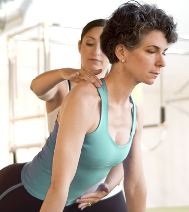 Pilates Pelvic Alignment with Instructor