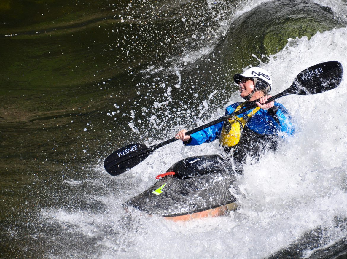Kayak in whitewater