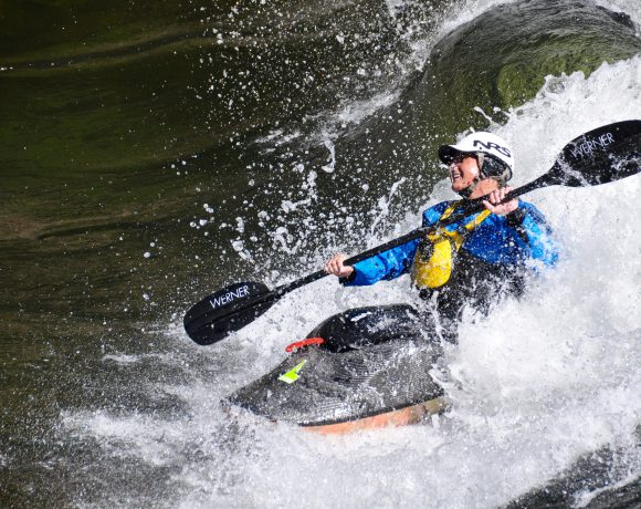 Kayak in whitewater