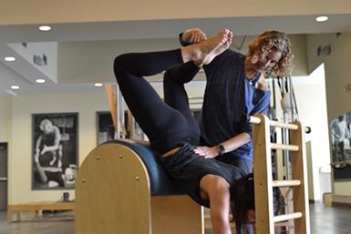 Pilates Ladder Barrel Training