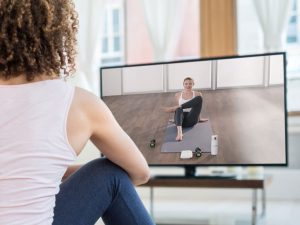 Virtual fitness class image