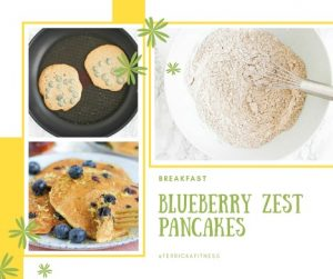 Homemade Blueberry Zest Pancakes for Healthy Holiday Recipes