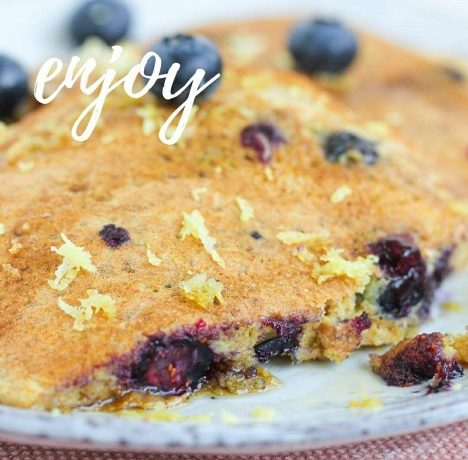 Blueberry Zest Pancakes for Healthy Holiday Breakfast