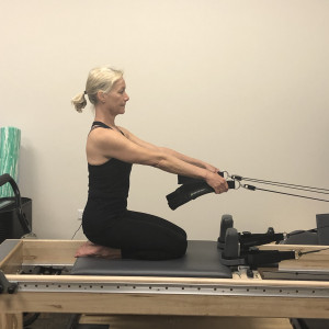 Pilates and PT Rehab Trapeze Table Chest Expansion Exercise