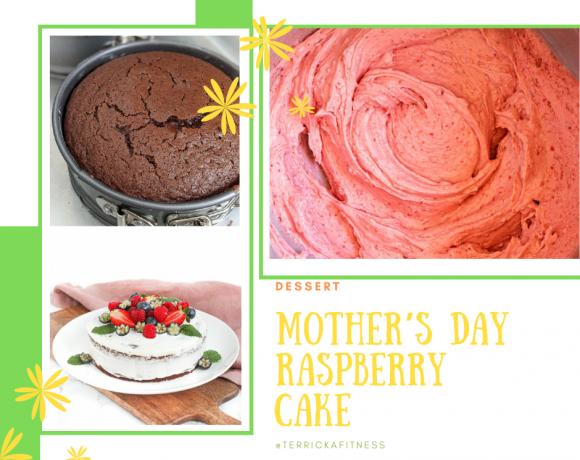 Mother's Day Raspberry Cake Recipe